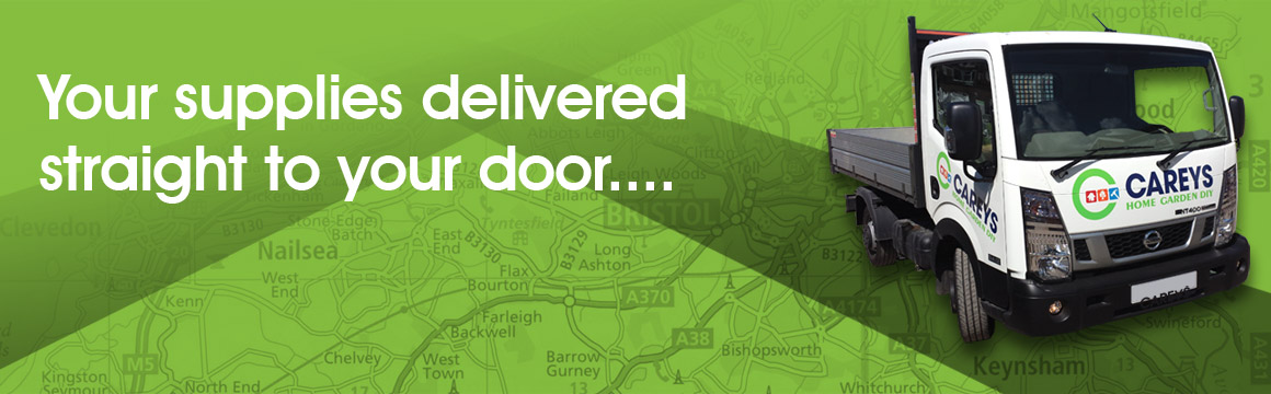 Your supplies delivered straight to your door with Careys' local delivery service